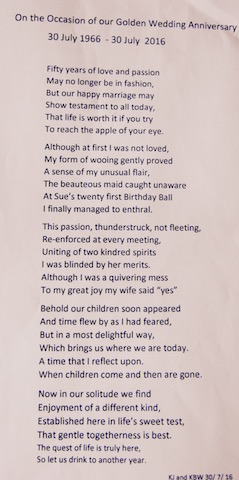 Keith's 50th anniv poem